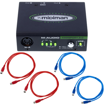 M-Audio MIDISport 2X2 USB Bundle