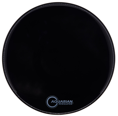"Aquarian 22"" Regulator Black Bass Drum"